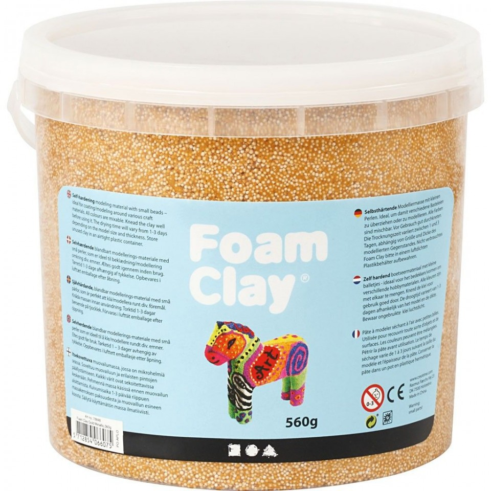 Foam clay emmer glitter goud metallic